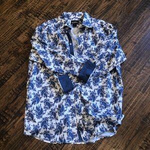 Men's New  Cremieux Paisley Shirt Sz XLT